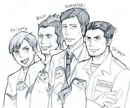 Подборка картинок пингвины мадагаскара хуманизация (17)