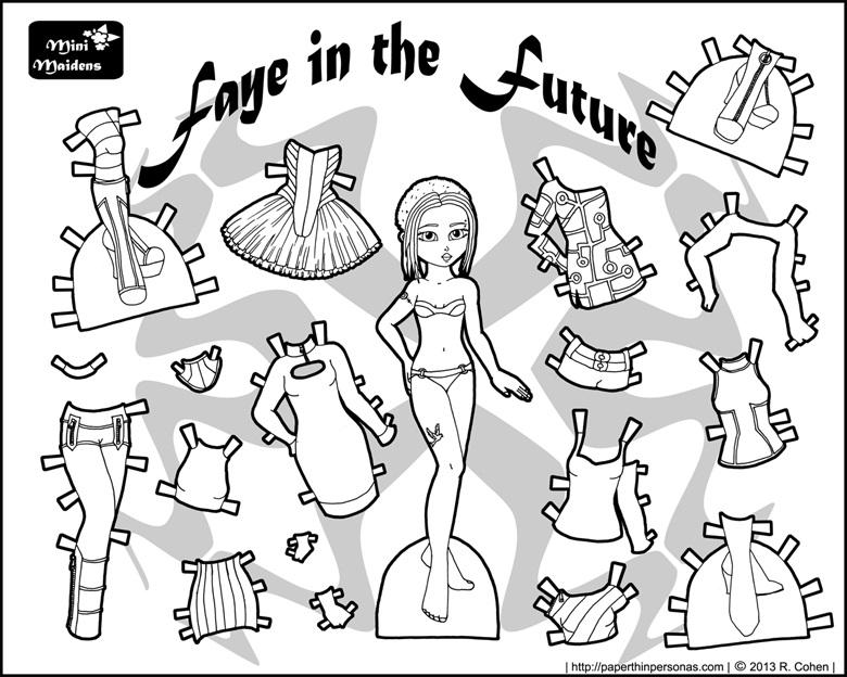 Распечатки для кукол черно-белые (15)