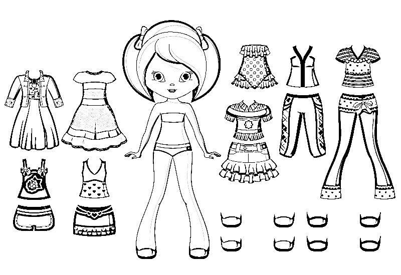 Распечатки для кукол черно-белые (18)