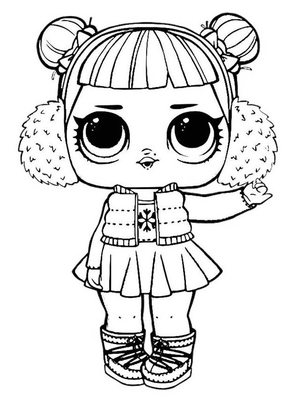 Распечатки для кукол черно-белые (21)