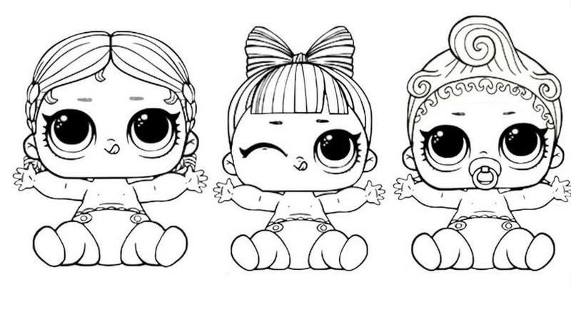 Распечатки для кукол черно белые (6)