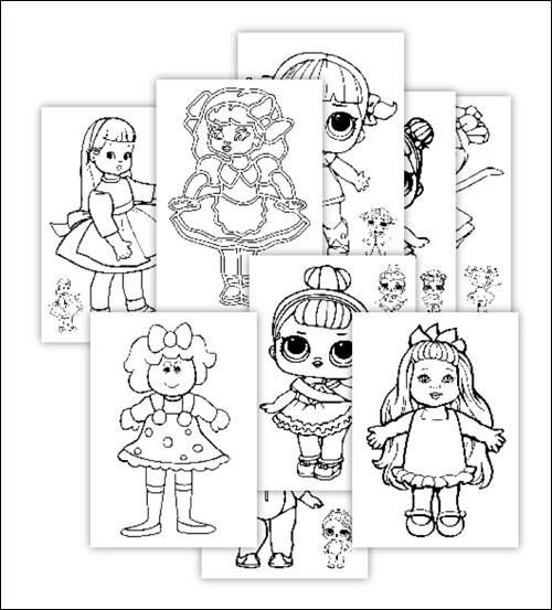 Распечатки для кукол черно-белые (7)