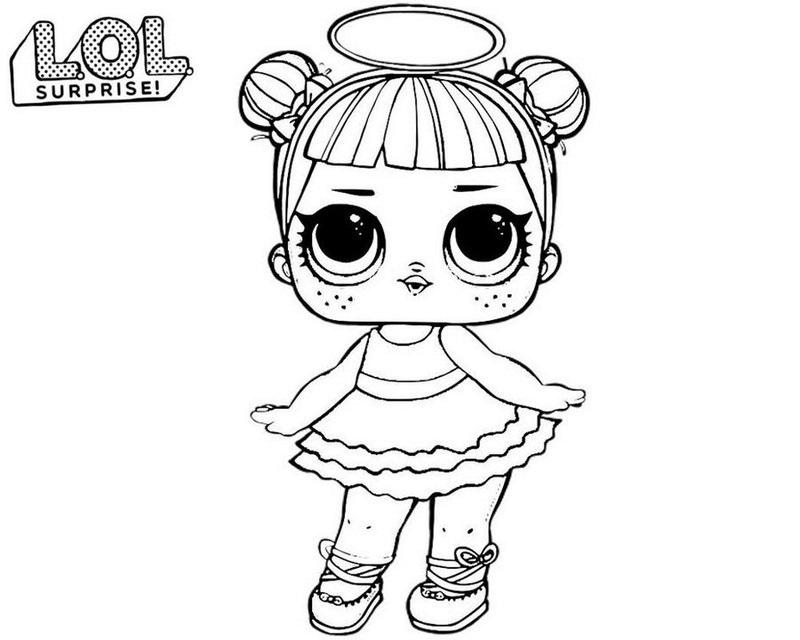Распечатки для кукол черно-белые (9)