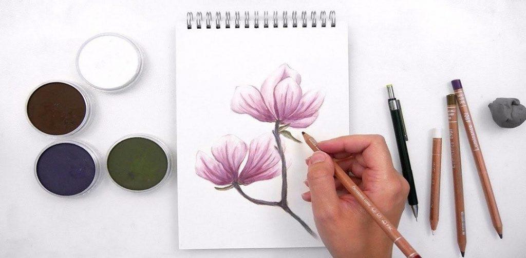 Рисунки для скетчбука цветными карандашами (10)