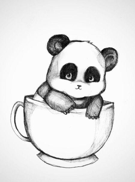 Рисунки карандашом милые животные - подборка (12)