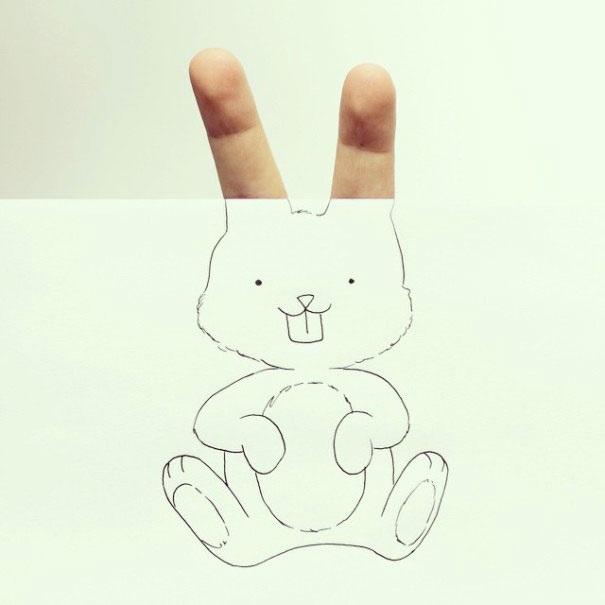 Рисунки карандашом милые животные - подборка (16)