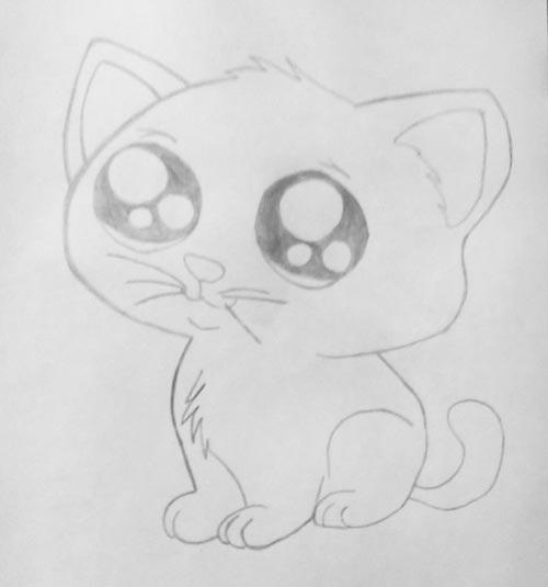 Рисунки карандашом милые животные - подборка (21)