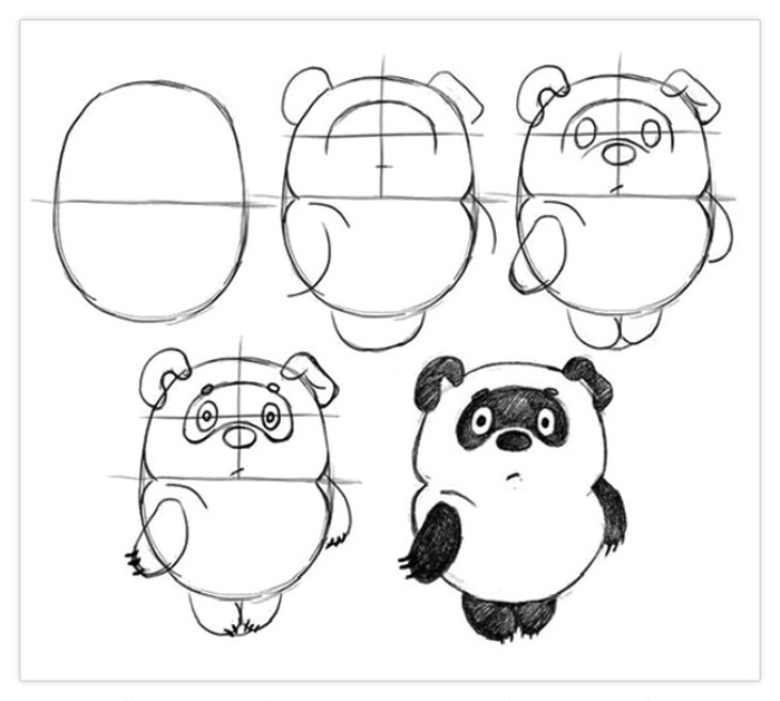 Рисунки карандашом милые животные - подборка (3)