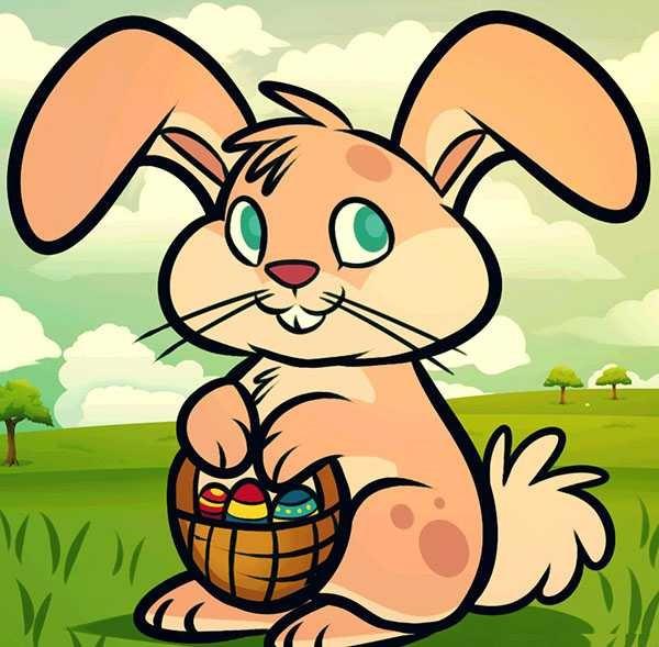 Рисунки кролики для детишек (3)