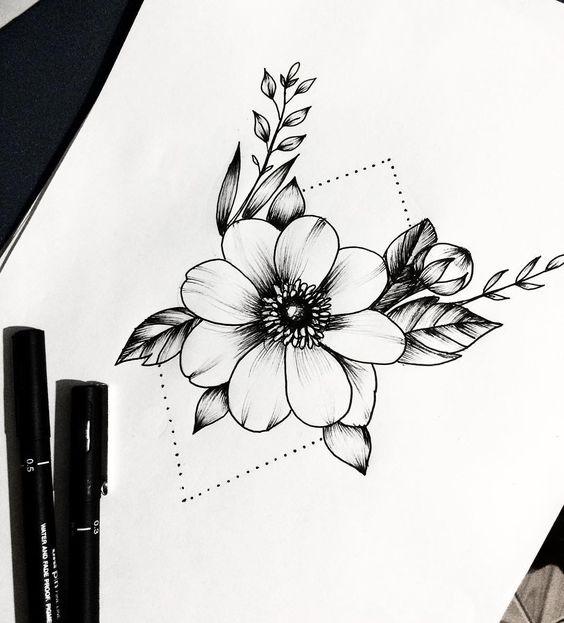 Рисунки цветов для срисовки цветные (7)