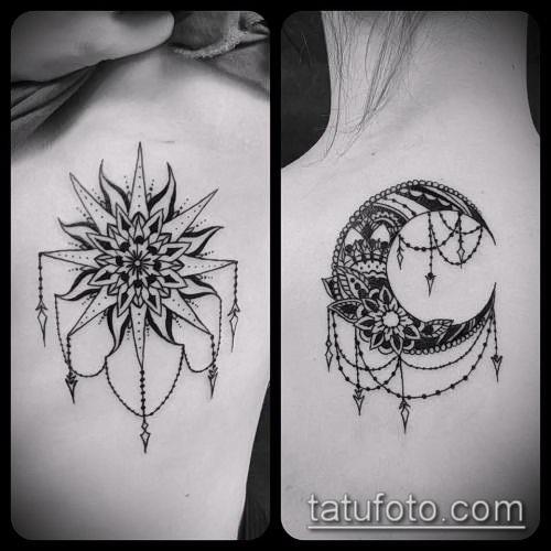 Солнце и луна рисунок (13)