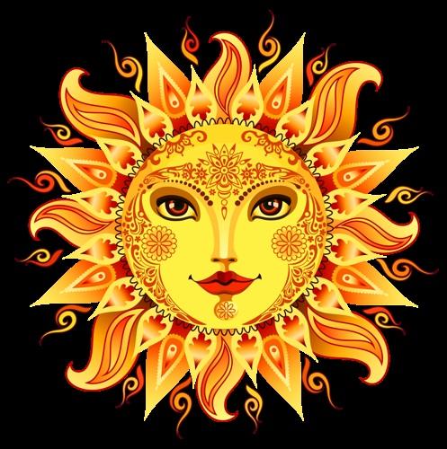 Солнце и луна рисунок (20)