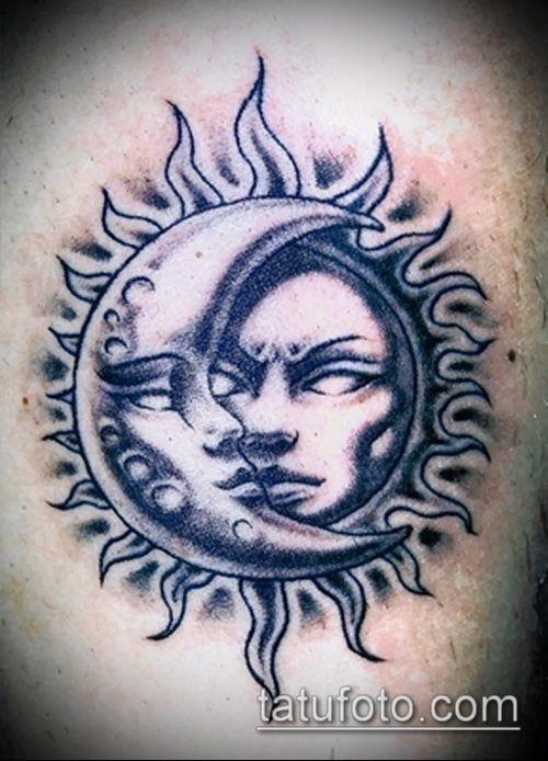 Солнце и луна рисунок (22)