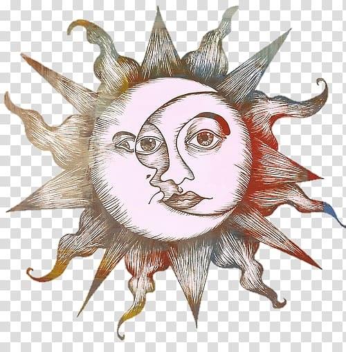 Солнце и луна рисунок (23)