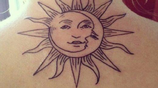 Солнце и луна рисунок (4)