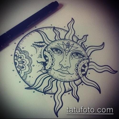 Солнце и луна рисунок (5)