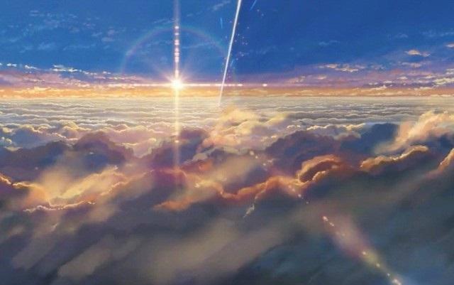 Твое Имя пейзажи из аниме (10)