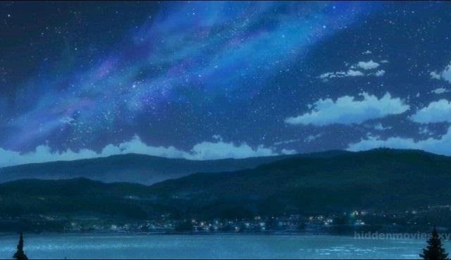 Твое Имя пейзажи из аниме (12)