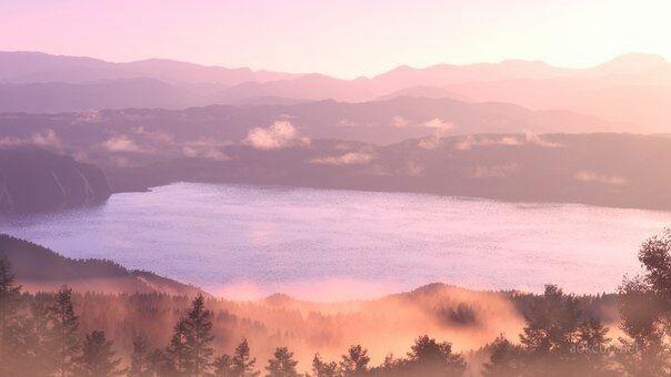 Твое Имя пейзажи из аниме (17)