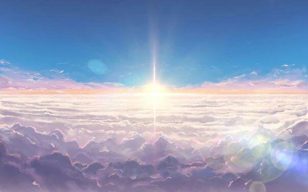 Твое Имя пейзажи из аниме (18)