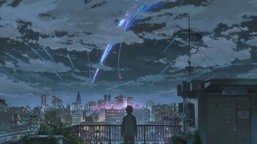 Твое Имя пейзажи из аниме (19)