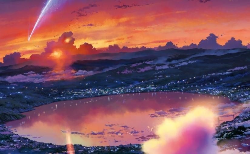 Твое Имя пейзажи из аниме (2)