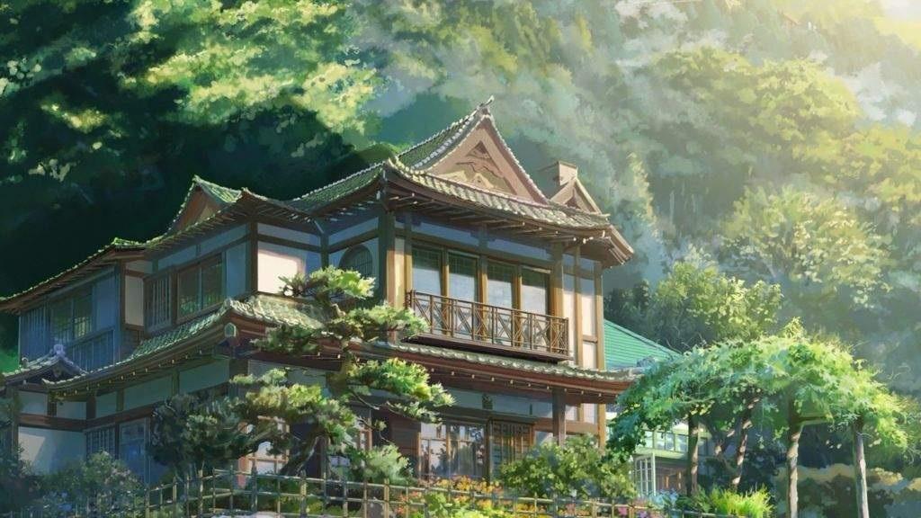 Твое Имя пейзажи из аниме (21)
