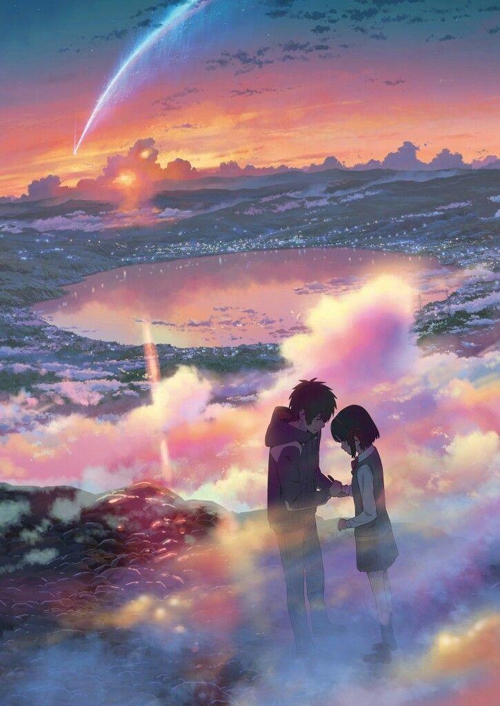 Твое Имя пейзажи из аниме (22)