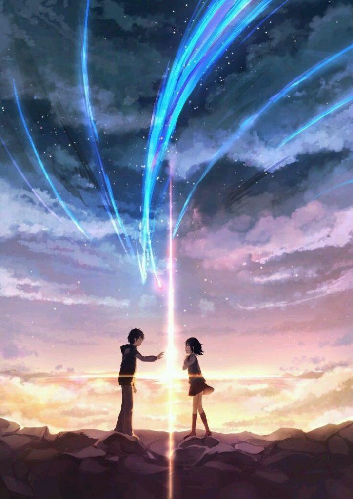 Твое Имя пейзажи из аниме (25)