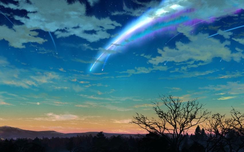 Твое Имя пейзажи из аниме (26)