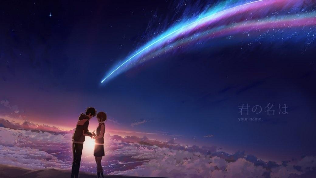 Твое Имя пейзажи из аниме (3)