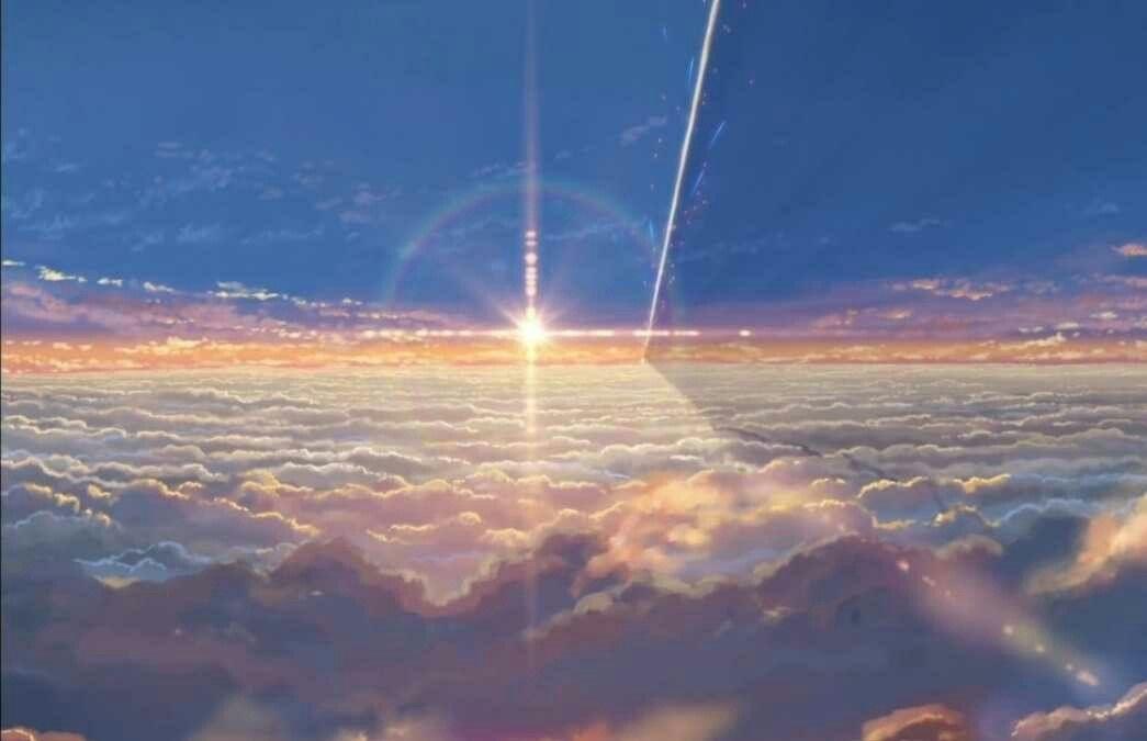 Твое Имя пейзажи из аниме (4)