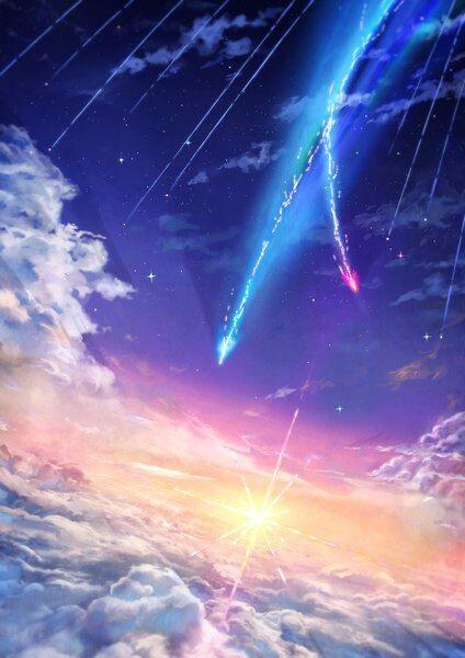 Твое Имя пейзажи из аниме (5)