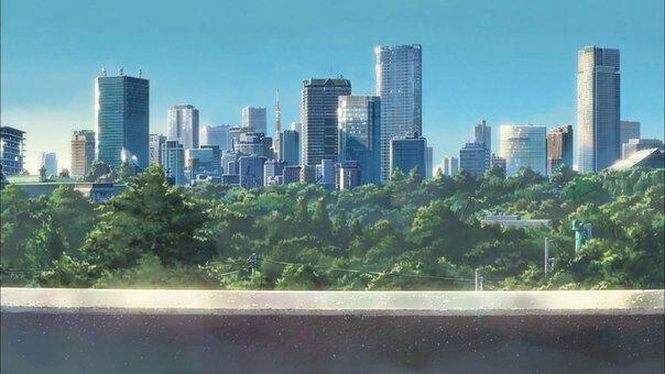 Твое Имя пейзажи из аниме (7)