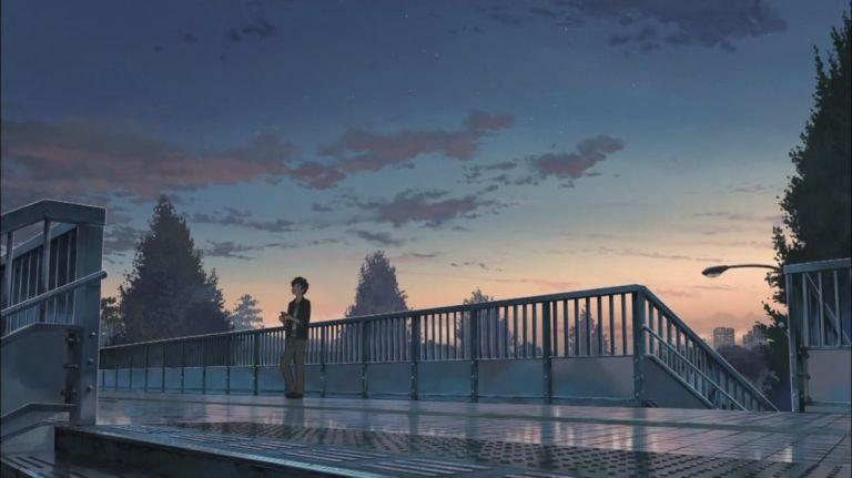 Твое Имя пейзажи из аниме (8)