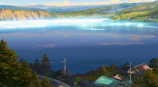 Твое Имя пейзажи из аниме (9)