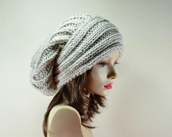 Фото вязаная шапка в стиле бохо (13)