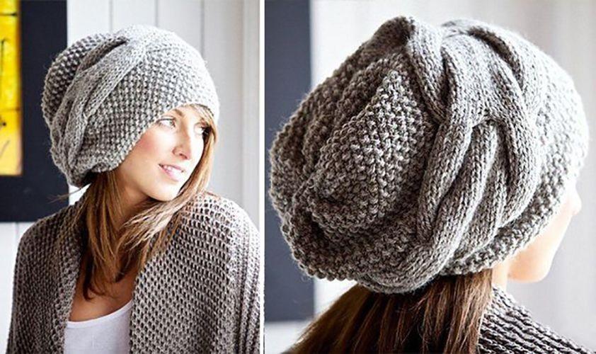 Фото вязаная шапка в стиле бохо (16)