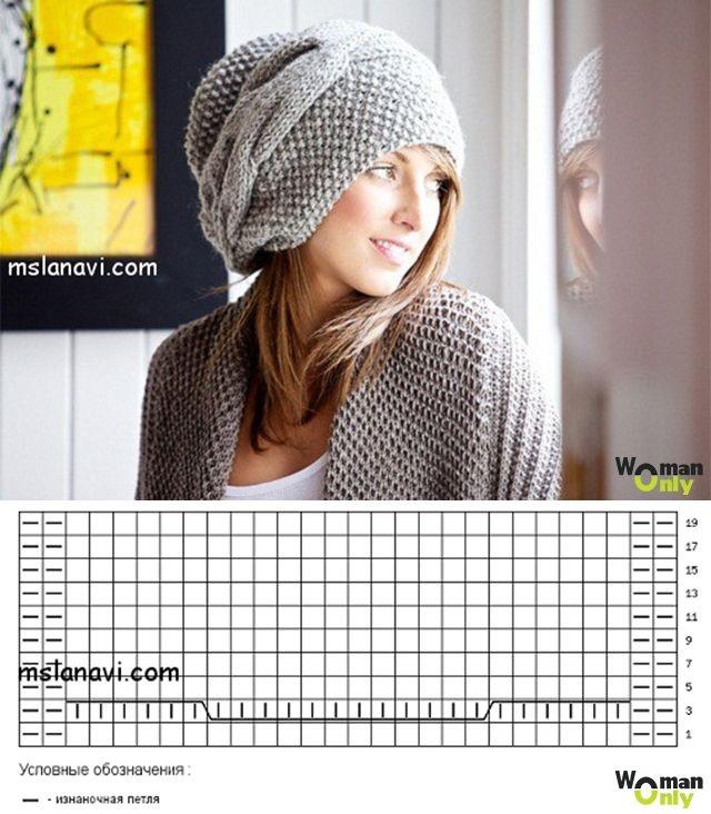 Фото вязаная шапка в стиле бохо (19)