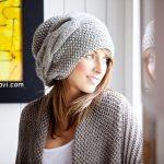 Фото вязаная шапка в стиле бохо