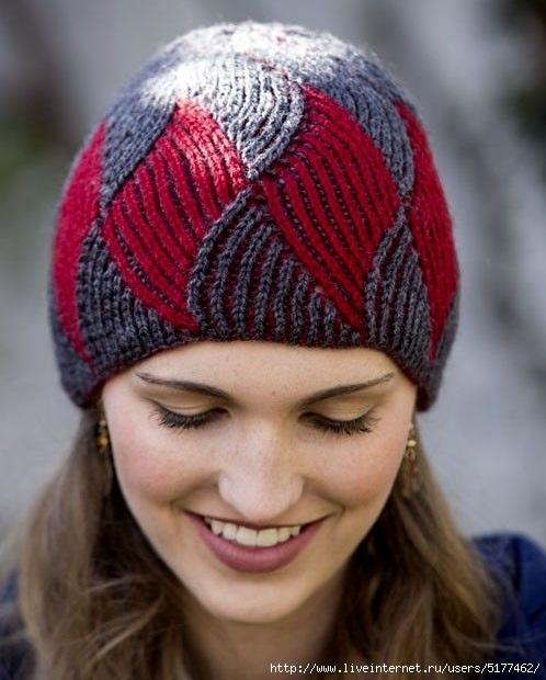 Фото вязаная шапка в стиле бохо (5)
