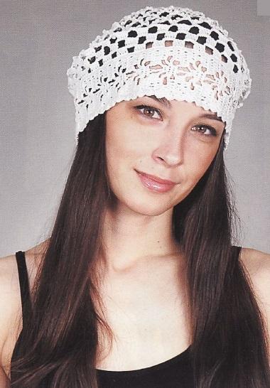 Фото вязаная шапка в стиле бохо (6)