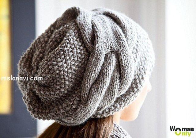 Фото вязаная шапка в стиле бохо (8)