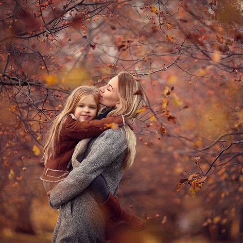 Фото в лесу осенью идеи (12)