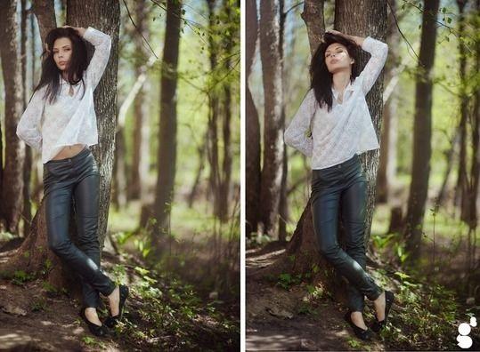 Фото в лесу осенью идеи (14)