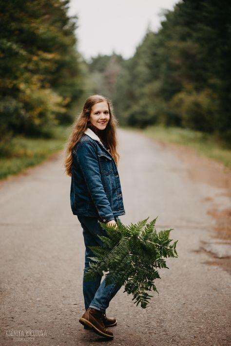 Фото в лесу осенью идеи (15)