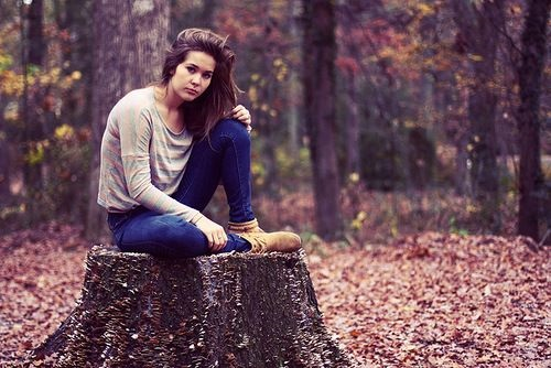 Фото в лесу осенью идеи (16)