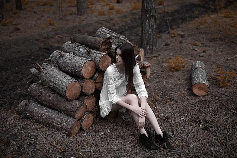 Фото в лесу осенью идеи (4)