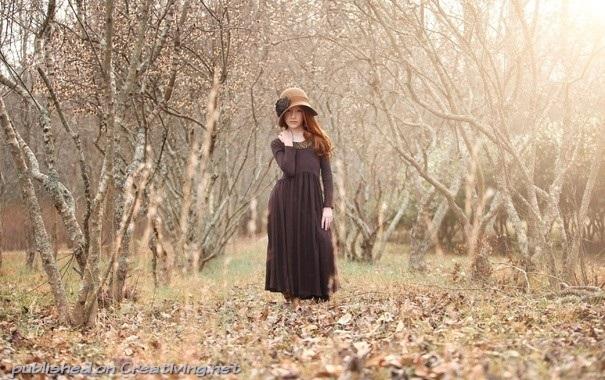 Фото в лесу осенью идеи (8)
