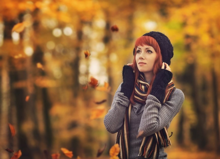 Фото в лесу осенью идеи (9)